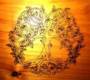 Pyrographic Tree
